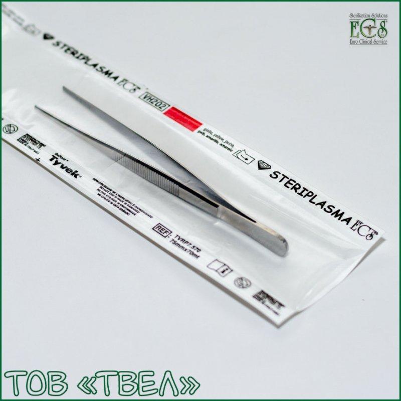 Плоский рулон Tyvek для плазменной стерилизации Steriplasma / 75 мм х 70 м ECS
