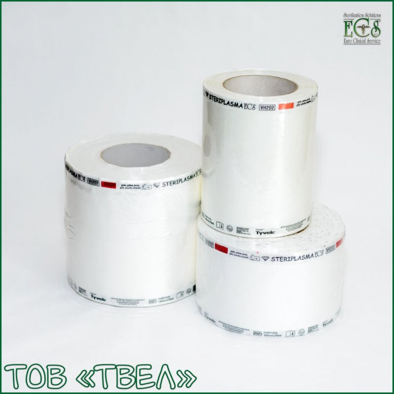 Плоский рулон Tyvek для плазменной стерилизации Steriplasma / 420 мм х 70 м ECS