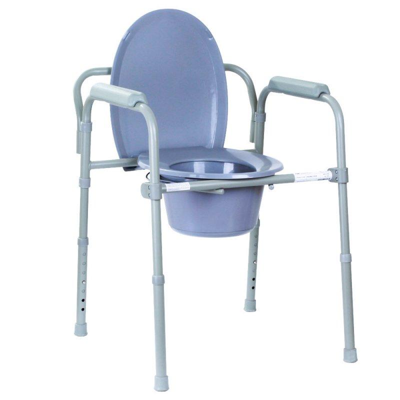 Туалет для инвалидов, стул туалет для больного, кресло с туалетом складной OSD-2110C