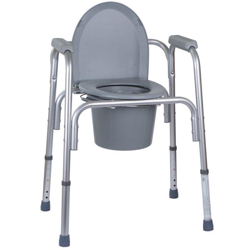 Туалет для инвалидов, стул туалет для больного, кресло с туалетом, алюминиевое кресло-туалет 3в1 OSD-BL730200