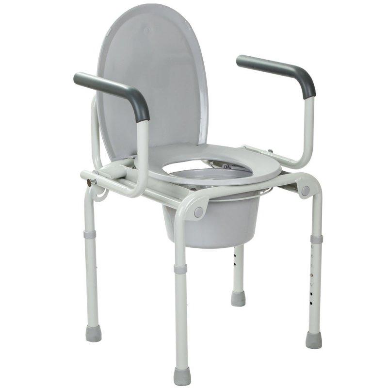 Купить Стальной стул-туалет с откидными подлокотниками OSD-2108D
