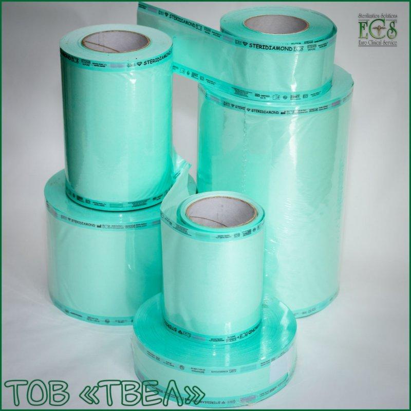 Плоский рулон для паровой и ЭО стерилизации Steridiamond / 100 мм х 200 м ECS