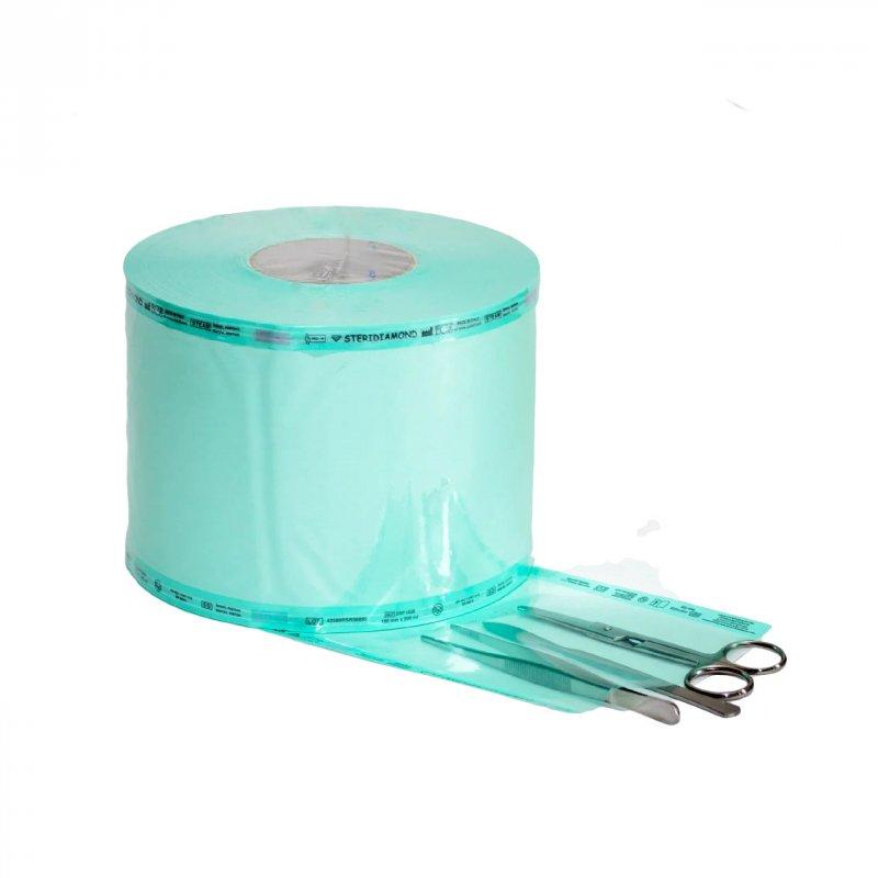 Плоский рулон для паровой и ЭО стерилизации Steridiamond / 150 мм х 200 м ECS
