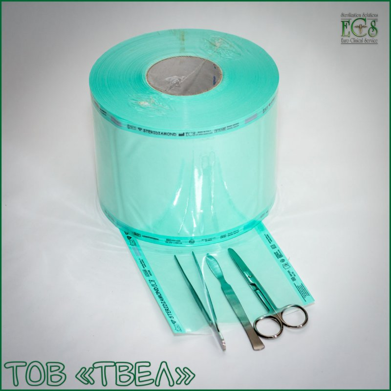 Плоский рулон для паровой и ЭО стерилизации Steridiamond / 200 мм х 200 м ECS