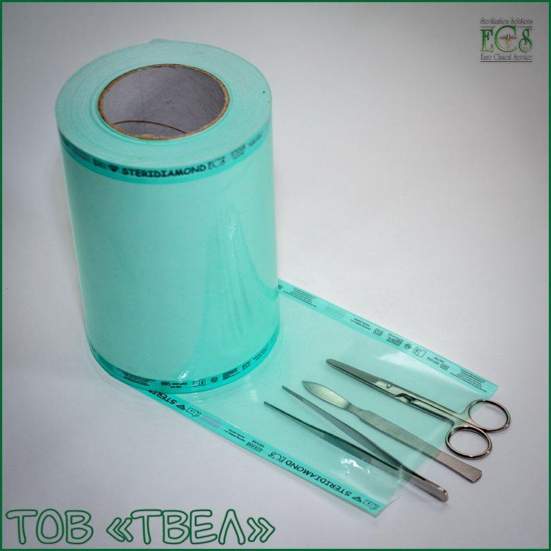 Плоский рулон для паровой и ЭО стерилизации Steridiamond / 350 мм х 200 м ECS