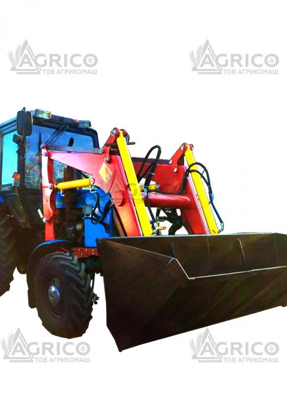 Навесной погрузчик на трактор+вилы+крюк+захват челюстной
