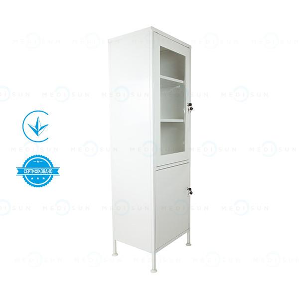 Медицинский шкаф для медикаментов шм-1с с сейфом Завет