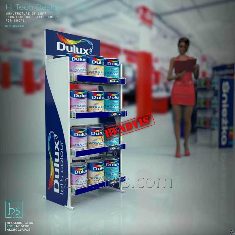 Торговые стойки для краски Dulux от Bendvis