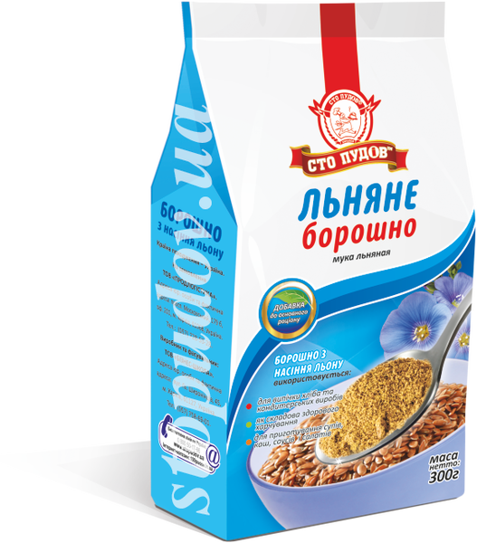 Купить Мука из семян льна, 0,3 кг
