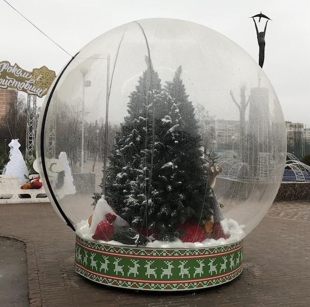 Buy Miracle Balloon divokulya snowglobe sphere translucent PVC 3m / giant inflatable snow globe PVC