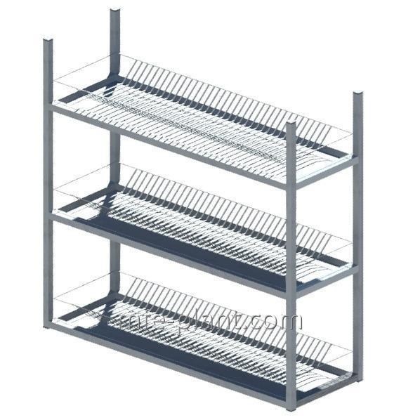 Сушка полка для посуды 1000х320х900 (три уровня)
