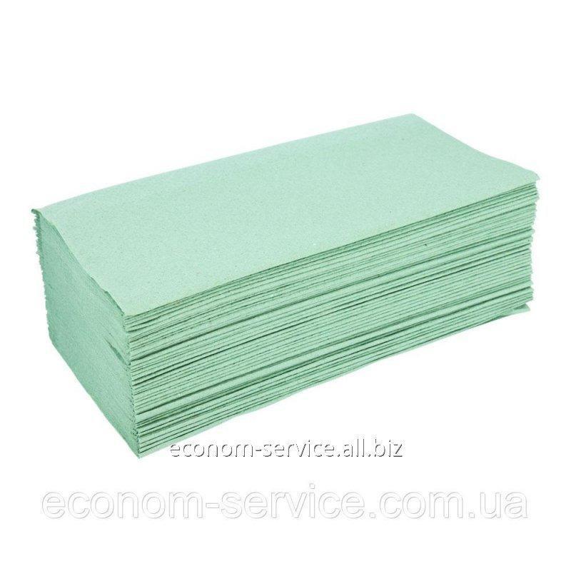 Купить Полотенце бумажное Аметист V-сложение зелёное, 1 шар.(160 л.)