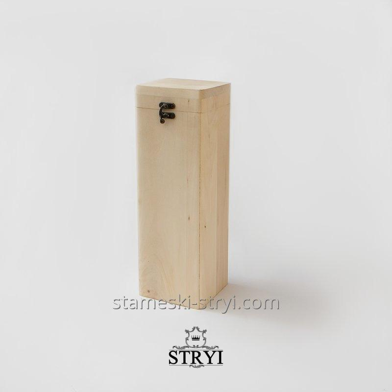 Заготовка шкатулки под вино вертикальная для декупажа и резьбы по дереву, арт.JB-05