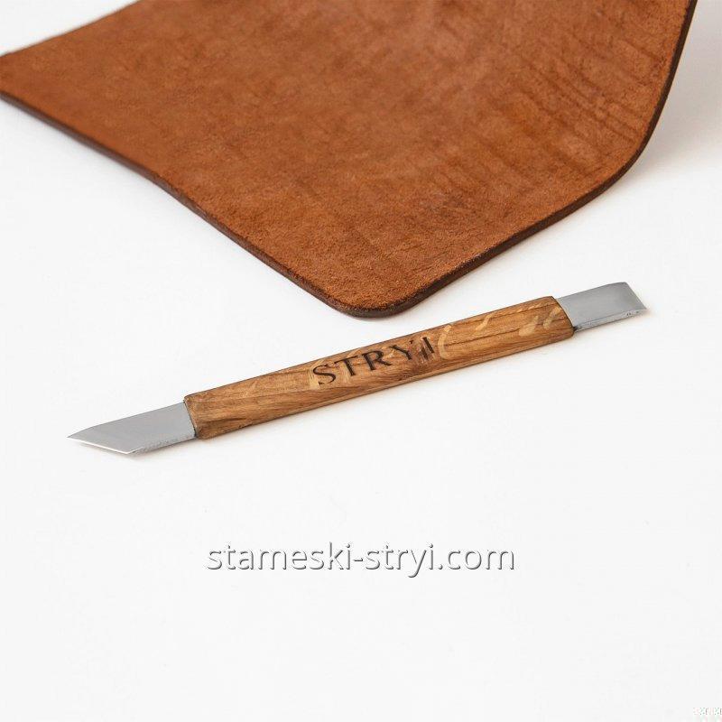 Нож для кожи брусовочный STRYI