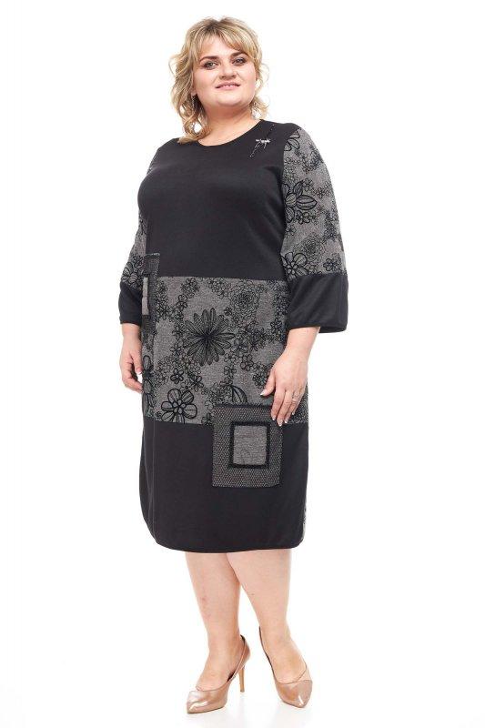 Купить Модное , стильное , теплое платье больших размеров Твид 1143Т-1