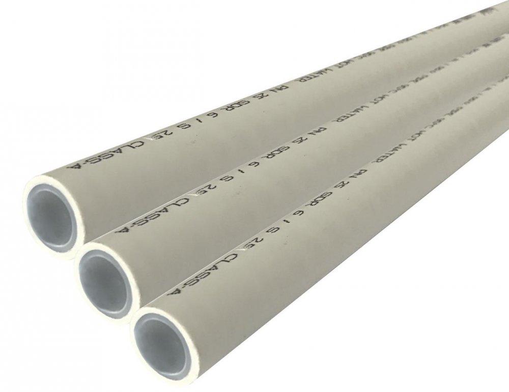 Купить Труба полипропиленовая с алюминиевой фольгой Kalde PPR Super Pipe 25 мм PN 25