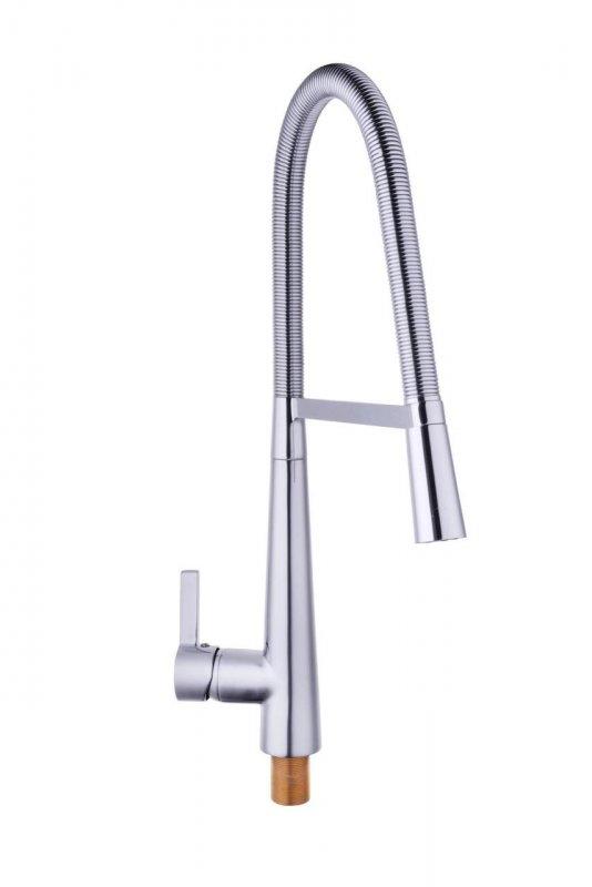 Смеситель кухонный Globus Lux LAZER GLLR-1032 с пружинным изливом