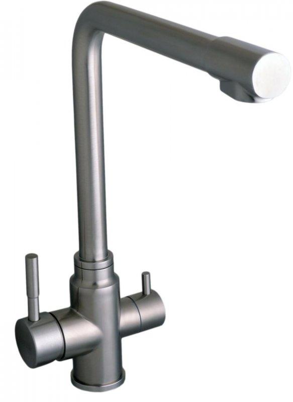 Смеситель кухонный Globus Lux НЕРЖАВЕЙКА SUS-0888-1 комбинированный