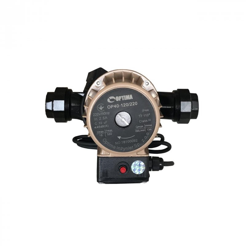 Насос циркуляционный Optima OP40-120 220 мм с кабелем и гайками