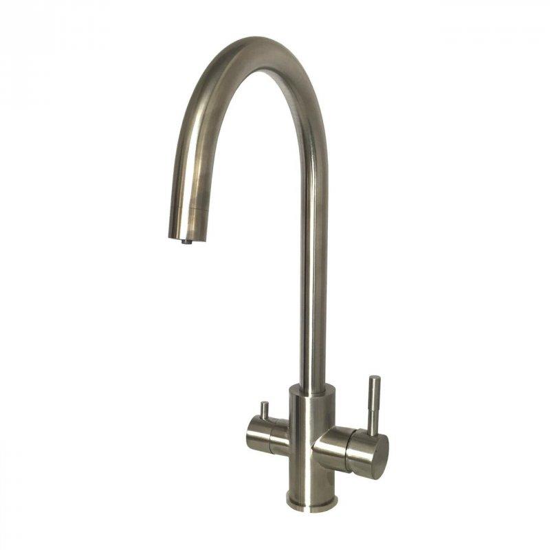 Смеситель кухонный Globus Lux SUS-0333-1 Нержавейка комбинированный под ОСМОС