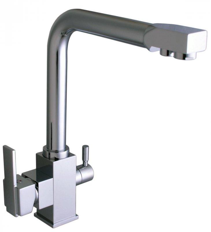 Смеситель кухонный Globus Lux LAZER GLLR-0100 CHROM ХРОМ комбинированный