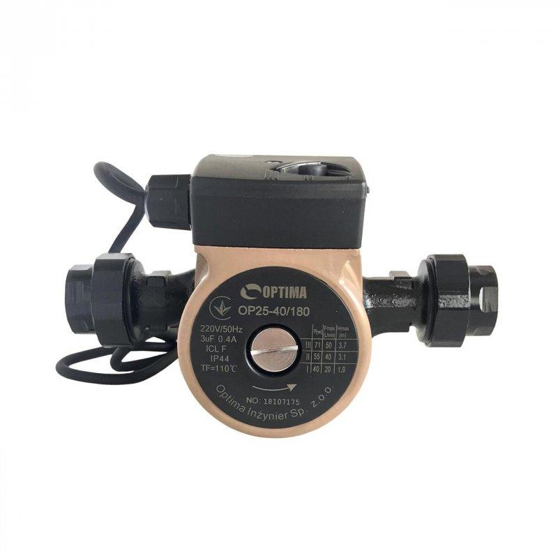 Насос циркуляционный Optima OP25-40 180 мм с кабелем и гайками