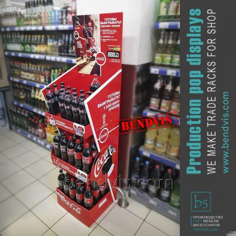 Торговые стойки Coca Cola