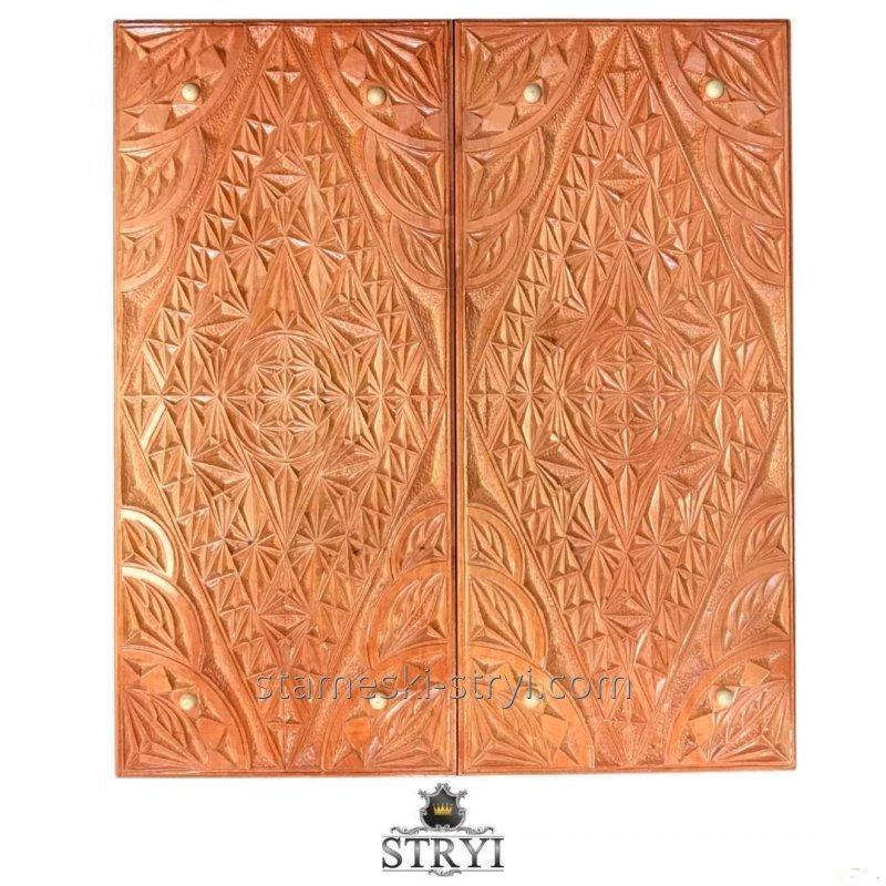 Нарды ручной работы, эксклюзивная резьба по дереву, арт. Н-061