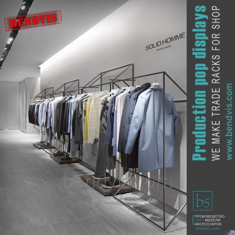 Стелаж для одягу торгове обладнання для магазину