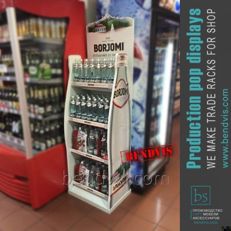 Торговые стойки Borjomi