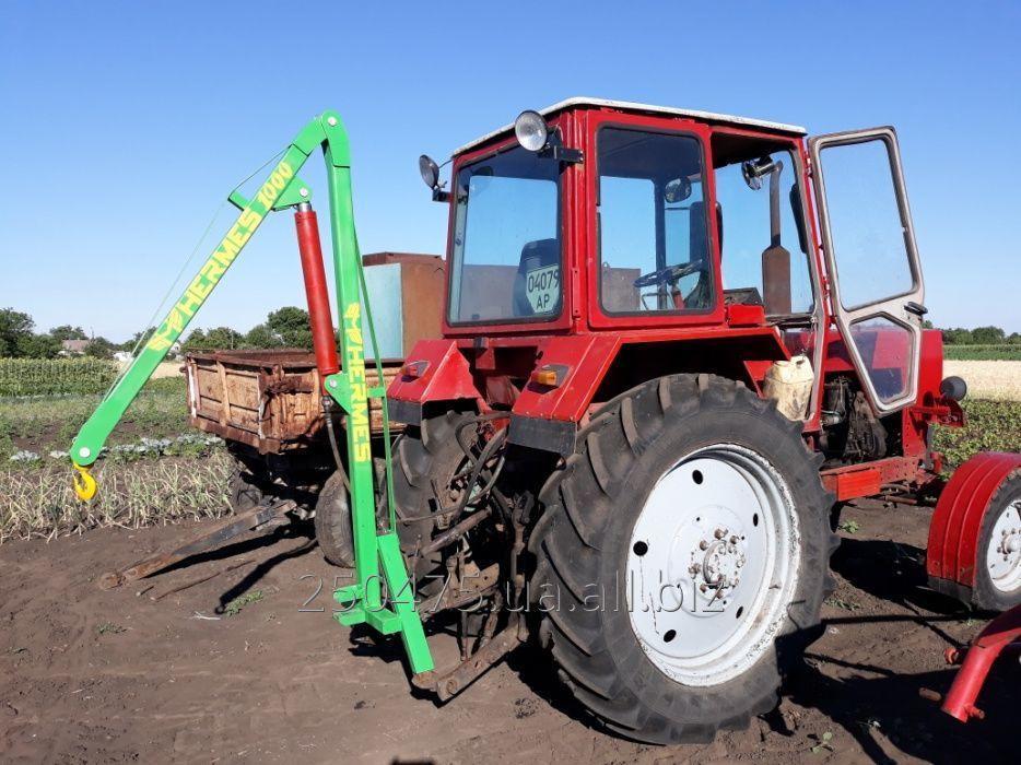 Купить Кран маніпулятор гідравлічний, навантажувач, 1000 кг, для біг-бегів на трактора МТЗ, ЮМЗ, Т-40