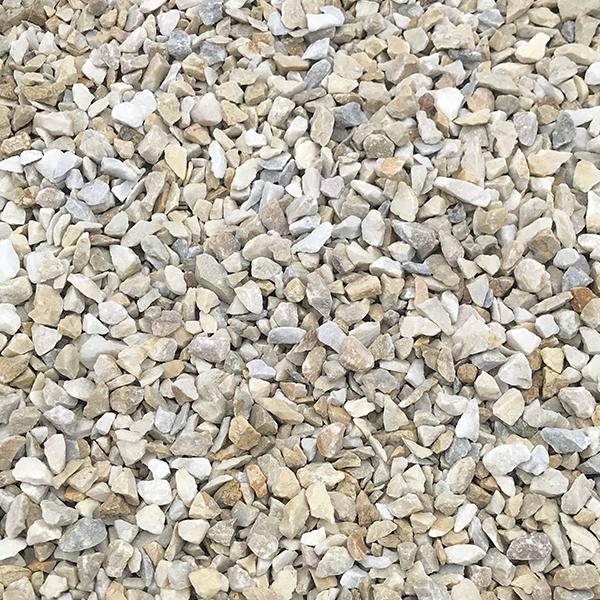 Мраморная крошка бело-серая