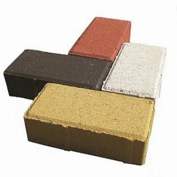 Тротуарная плитка Кирпич  цветная стандарт
