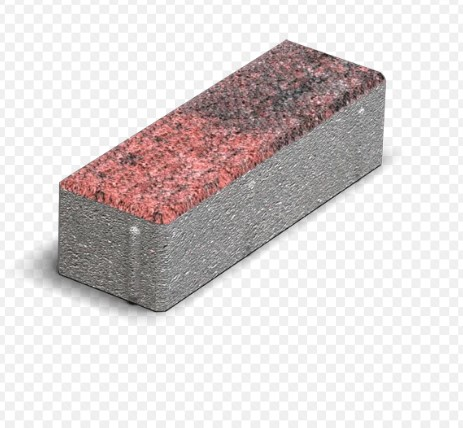 Тротуарная плитка Кирпичик  колормикс