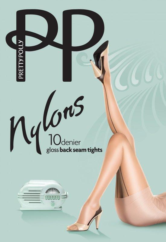 Купить Колготки Pretty Polly Nylons BackSeam PNAKQ4 M/L Black (5010185968939)