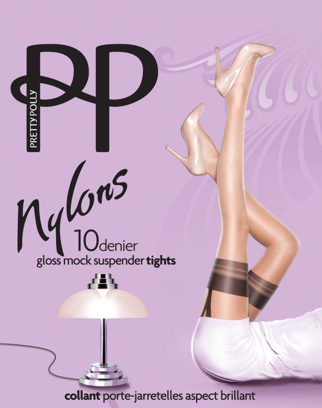 Купить Колготки Pretty Polly Nylons Mock Suspender PNARL9 S/M Nude/black (5053014109219)