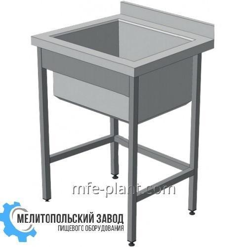 Мойка 600х600х850, 1-секционная с бортом