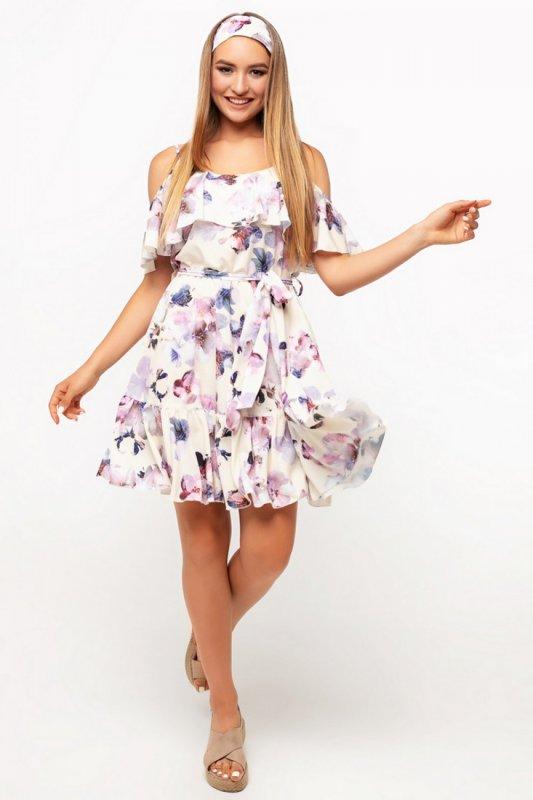 Buy Dress 01-27 - cream flowers diz 008 color 3
