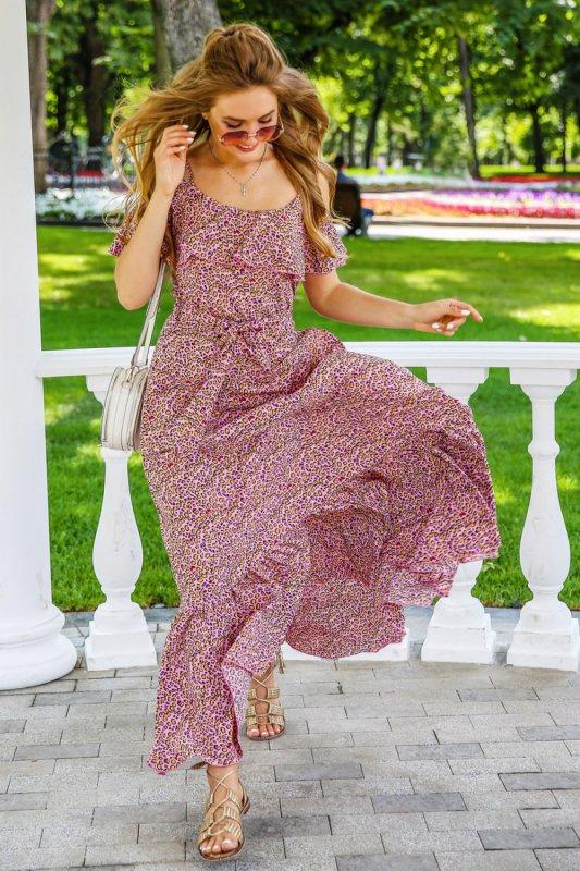 Buy Dress 01-27 - pink leopard art 3546 No. 5/2