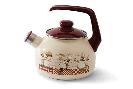 """Купить Чайник эмалированная сталь с ручкой диаметр 20 см 2,5 л 2327 """"Повара"""" Спец.посуд"""
