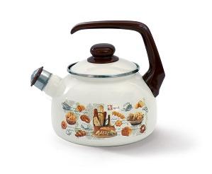 """Купить Чайник эмалированная сталь с ручкой диаметр 20 см 2,5 л 2426 """"Хлеб"""" Спец.посуд"""