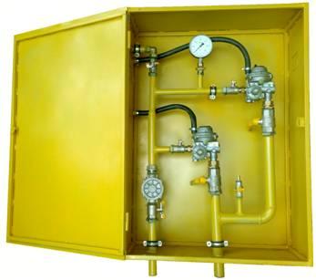 ШРП с регуляторами давления газа MS, FE, M2R, RBI, R, B, DSR, DKR