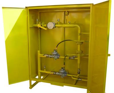 ГРПШ з регуляторами тиску газу FEX і лічильниками газу GMS, РГС, Delta, ТЕМП