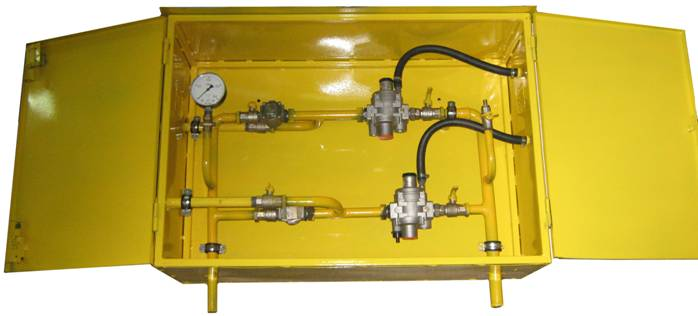 ШРП с регуляторами давления газа FRG/2MBCZ, RBI 1212