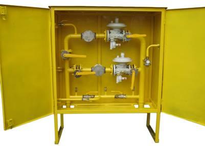 ШРП с регуляторами давления газа RBЕ 1800, 4000, RG/2MB, MR50 SF6 (2 линии)