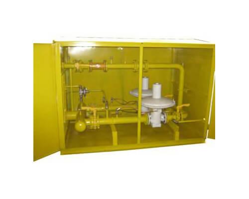 ГРП с регуляторами давления газа RBЕ 4000 и счетчиками газа GMS, ЛГ-К, Курс-01, Delta, TZ / Fluxi