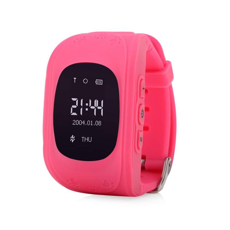 Оригинальные детские смарт часы с GPS WONLEX Q50 цвет розовый