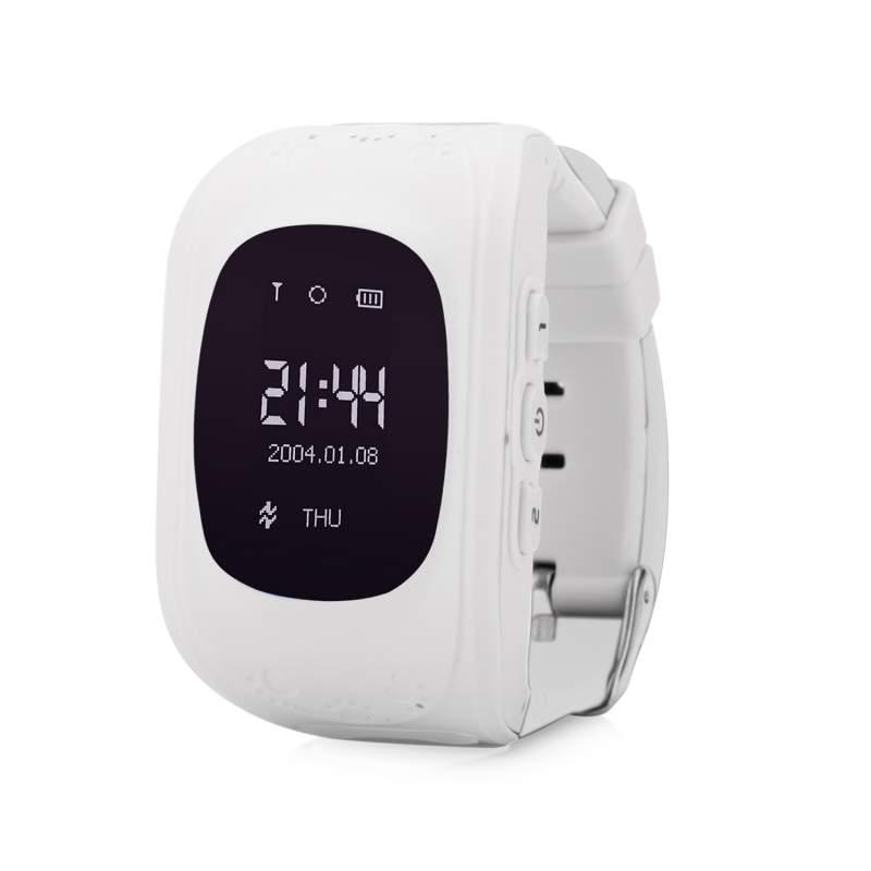 Оригинальные детские смарт часы с GPS WONLEX Q50 цвет белый