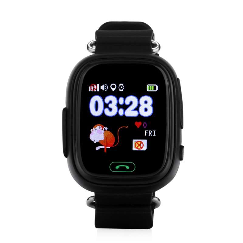 Купить Оригинальные детские смарт часы с GPS WONLEX GW100 (Q90) цвет черный