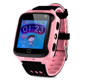Оригинальные детские смарт часы с GPS WONLEX GW500s (G51, Y21, Q528) цвет розовый